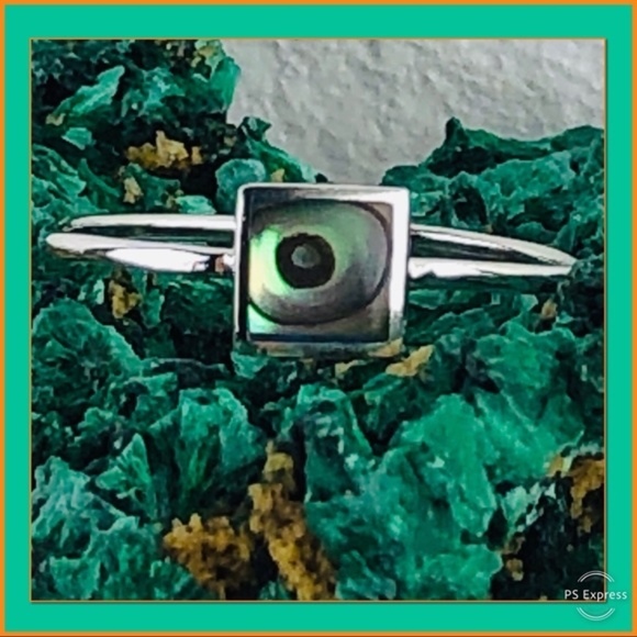 925e Jewelry - NWOT STERLING AND ABALONE RING
